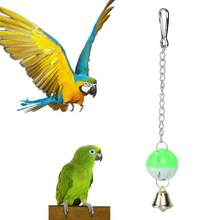 Pet Bird Toy Parrot Parakeet Budgie Bite Chew Climb Hanging Swing Bell Ball Toys Multicolor Training Interactive Training Toys(China)
