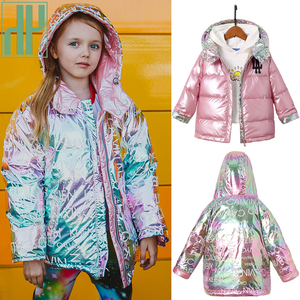 HH Children New Fashion Winter Jacket For Girls Warm Hooded Coat 90% Duck Down Double-sided Jackets Coats For Boys Kids Parkas(China)