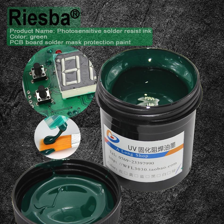 Tools : 5Pcs Black PCB UV curable solder resist inksolder mask UV ink