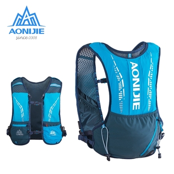 AONIJIE Marathon Outdoor Hydration Backpack Sports Vest Ultralight Running Bags Free Soft Water Flask Camping Hiking Cycling 5L