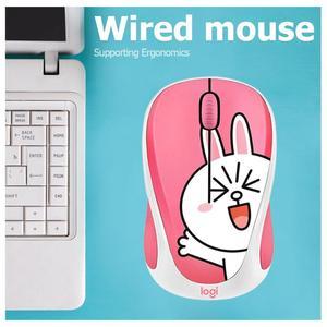 Image 5 - Logitech ratón óptico USB inalámbrico con diseño de hámster 2,4 GHz, Mouse de mano pequeña para ordenador portátil para niña, color rosa