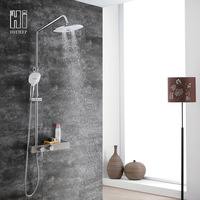 Hideep Surface Mounted Shower Wall Hanging Three Feature ABS Top Shower Constant Temperature Shower Faucet Manufacturers Direct