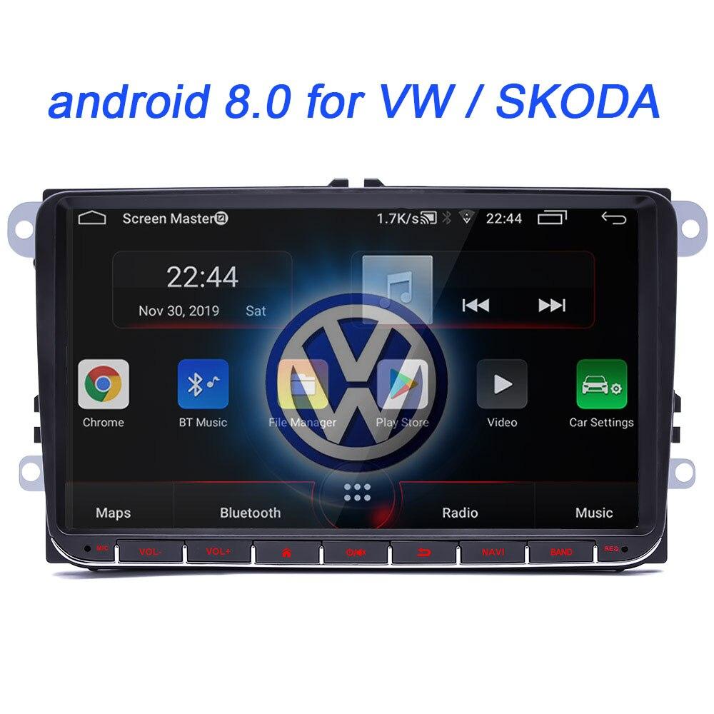 android 8.0 For VW Volkswagen Golf Polo Tiguan Passat b7 b6 SEAT leon Skoda yeti Octavia Car Multimedia player 2 Din Car radio(China)