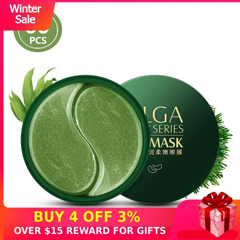 Hydrogel Eye Patches Anti Aging Collagen 60PCS Gold Green Anti Wrinkles Eyes Mask Dark Circles For Ageless Korean Gel Patch P