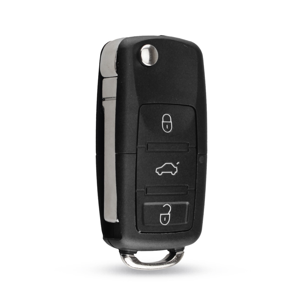 KEYYOU 2 button Folding Car Remote Key Flip Folding Key Shell Case For Volkswagen Vw Jetta Golf Passat Beetle Skoda Seat Polo B5 5