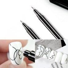 1 adet Nail Art grafiti kalem su geçirmez çizim boyama kalemi fırça DIY çiçek özet satırları detayları Nail Art güzellik aracı