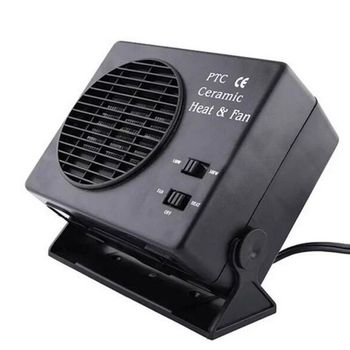 12V Car Portable 2 in 1 Electric Fan and Heater 300W Defroster Demister Quick Heating Speed