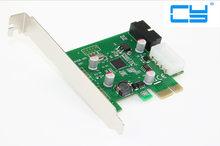 Adaptador de carregamento de pci-e pci express usb 3.0 placa de expansão de desenhos animados conversor com 4 pinos + usb 3.0 20pin co