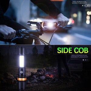 Image 5 - 6000Lm ไฟฉาย LED Ultra Bright ไฟฉาย T6/L2 COB Camping 5 โหมดสวิทช์ linterna Zoomable จักรยานใช้ 18650