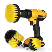 3Pcs/Set Electric Drill Brush Kit Plastic Round Cleaning For Carpet Glass Power Scrubber