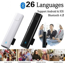 portable smart wireless translator handheld real time interactive instant voice translation support 52 languages no noise 2020 New Smart Voice Translation Stereo Headset Wireless Bluetooth Mini Translator 26 Languages Real Time