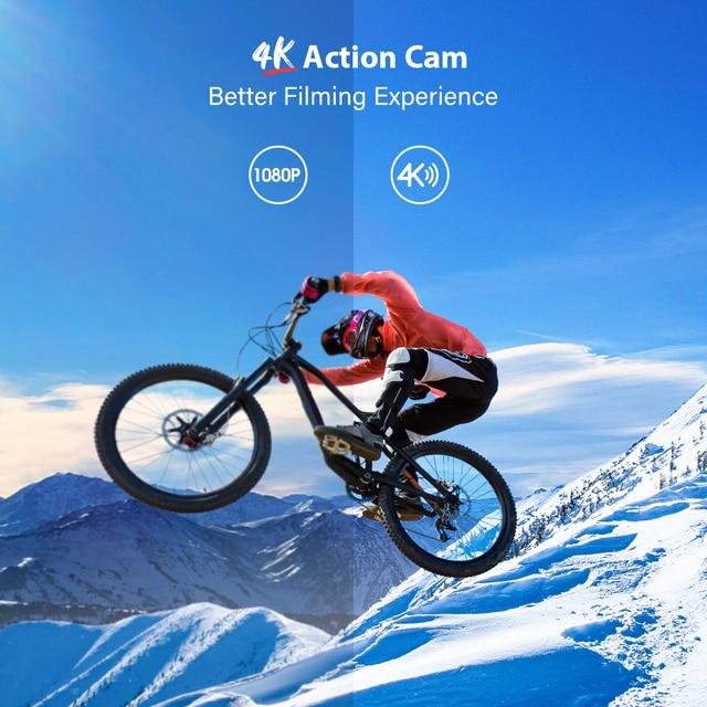 Câmera impermeável subaquática da câmera da ação do momento 3 4k de vantop com 170 ° grande angular ao ar livre mini esportes de vídeo de wifi mini câmera 2
