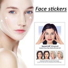 Sticker Adhesive-Tape Face-Lift Transparent 40pcs Elasticity Invisible