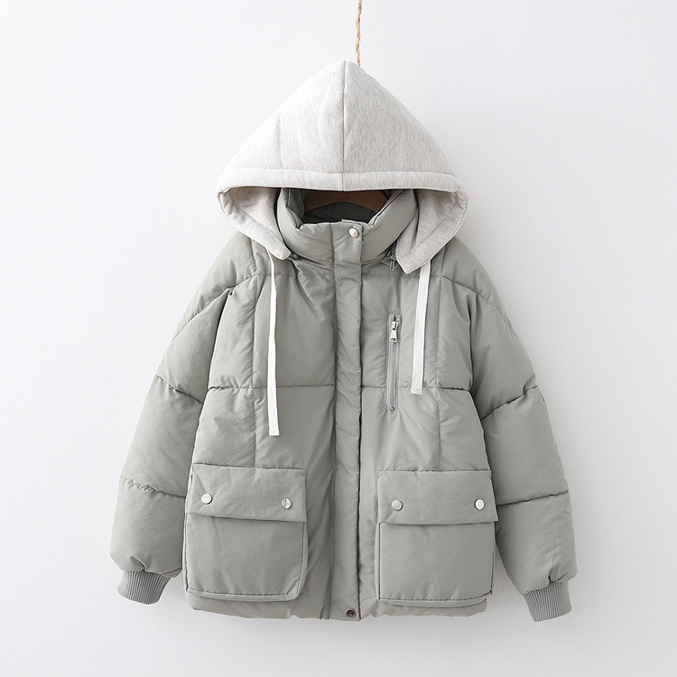 Cotton Coat Women's Korean-style Loose-Fit Cotton-padded Jacket 18 New Style Down Coat Mid-length Cotton-padded Clothes Winter C
