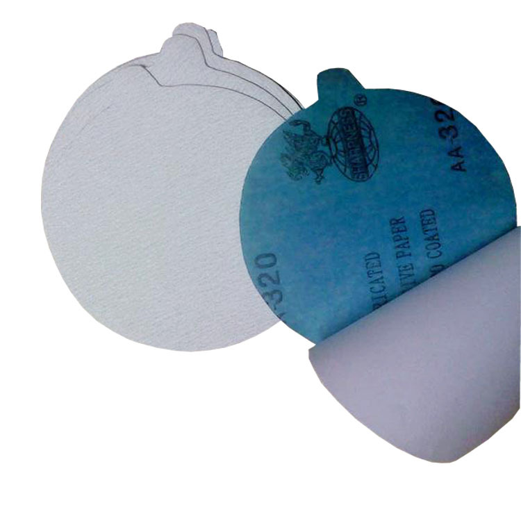Sharp White Sand Sharpness Disc Sander Gum Sandpaper Flocked Sandpaper Polishing Adhesive Sticker SNAD Paper Disk