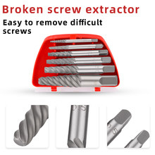 NEW Damaged Screw Removal Tool 6pcs/lot Screw Extractors Damaged Broken Screws Removal Tool Used in Removing the Damaged Bolts