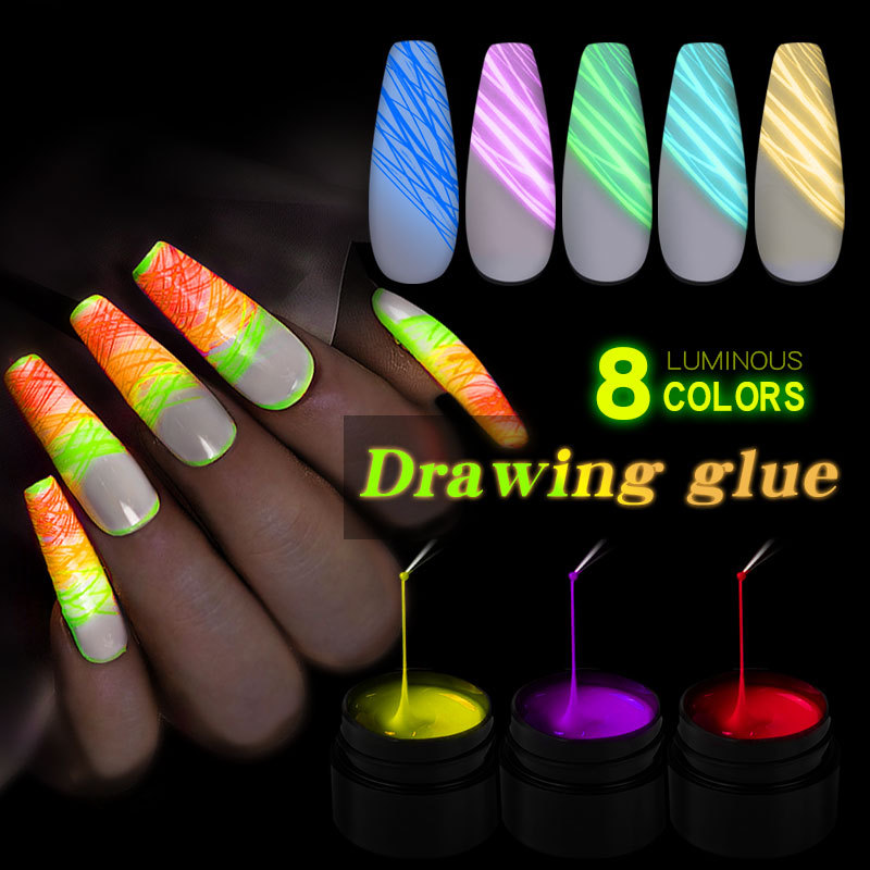 Nail Gel Spider Line For Nails Art Gel Polish UV Colors Painting Gel Nail Polish Luminous Gel Lacquer Web Stickers Gel Polish