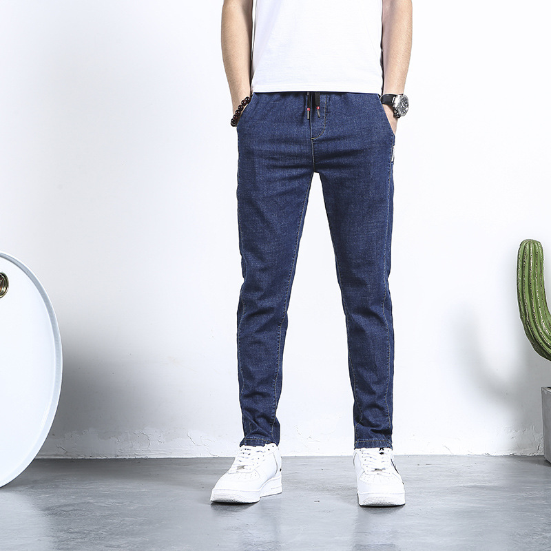 Spring MEN'S Jeans Comfortable Korean-style Slim Fit MEN'S Jeans Trousers Elasticity 326