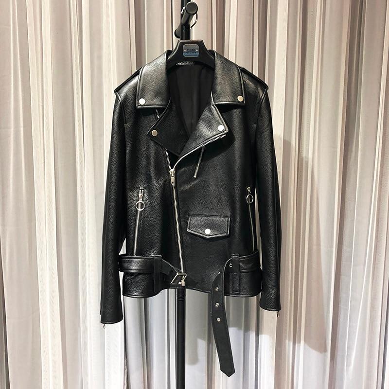 ZURICHOUSE 2020 Women's Genuine Leather Jacket Fashion Diamond Design Top Quality Natural Soft Sheepskin Coat Woman