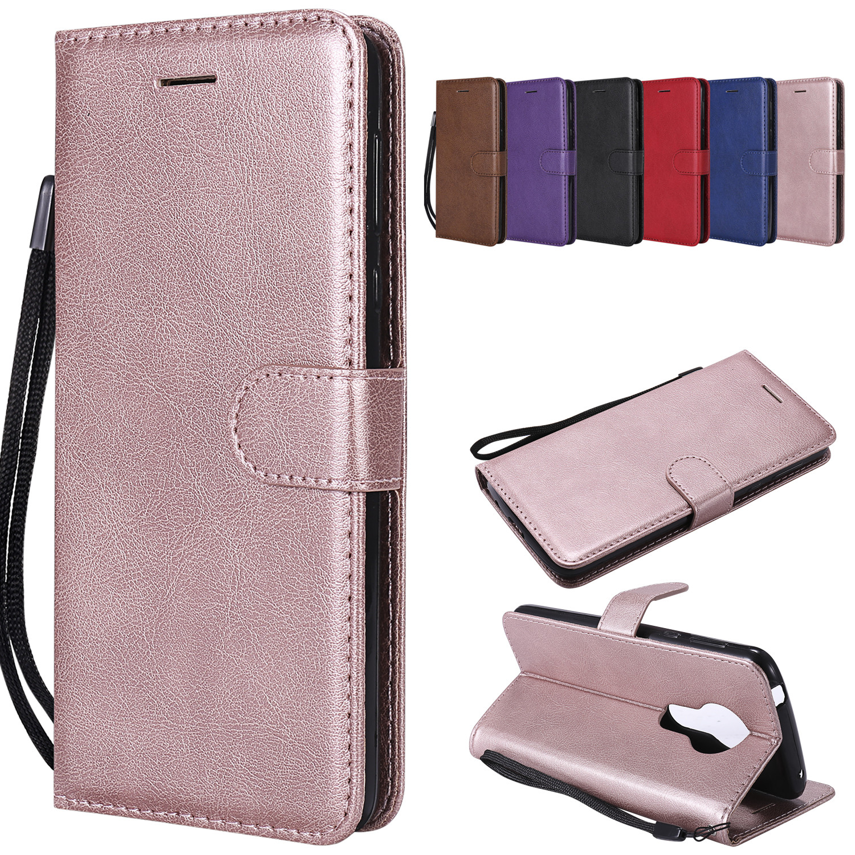 PU Leather Wallet Case For Motorola Moto E4 E5 E6 E7 G8 Plus Z3 Z4 P30 Play Power P30 Note Play One Power Macro