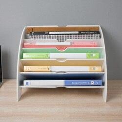 Organizador de revistas A4, caja de almacenamiento de archivos, accesorios de escritorio, archivador de revista Joy Corner Material: madera tamaño: 33,5*2