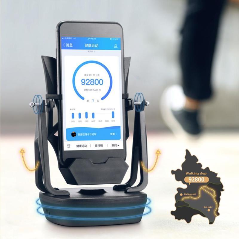 Creative Phone Holder Auto Swing Phone Shake Wiggler For WeChat Motion Step Passometer Universal Desktop Automatic Wiggler Rack