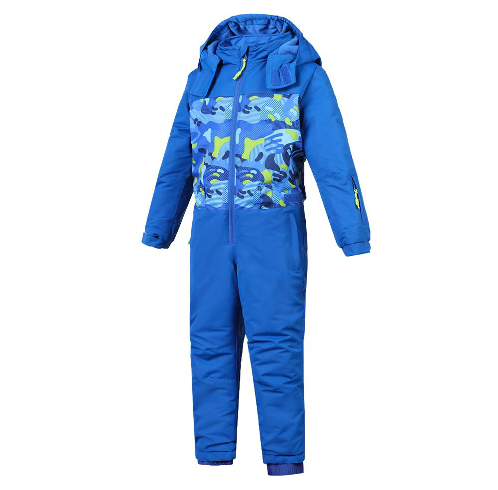 Girls Winter One Piece Snowsuits Outdoor Windproof Waterproof Hooded Ski Suits