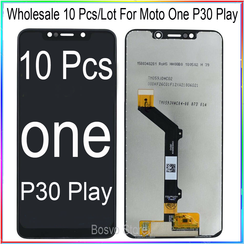 WholeSale 10 Pcs/lot for Moto One <font><b>P30</b></font> Play XT1941-1 XT1941-3 X <font><b>LCD</b></font> Screen Display with Touch Digitizer Assembly XT1922 image