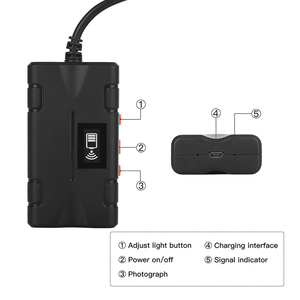 Image 2 - Wireless Inspection Camera WiFi Endoscope 2.0 MP 1080P HD Borescope Rigid Snake Cable WIth 8 LED for IOS iPhone Android Tablet