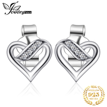 JewelryPalace 925 Sterling Silver Earrings Stud Infinity Love Heart CZ Wedding Engagement Promise Jewelry Gifts New