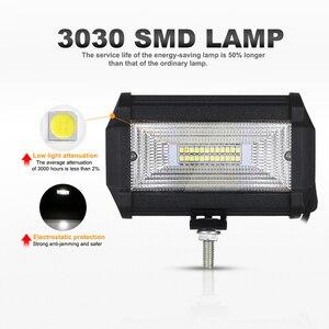 Image 2 - Nlpearl 5inch 72W Light Bar/Work Light Spot&Flood Beam LED Work Light Fog Lamp for Off Road Truck Boat ATV LED Light Bar 12V