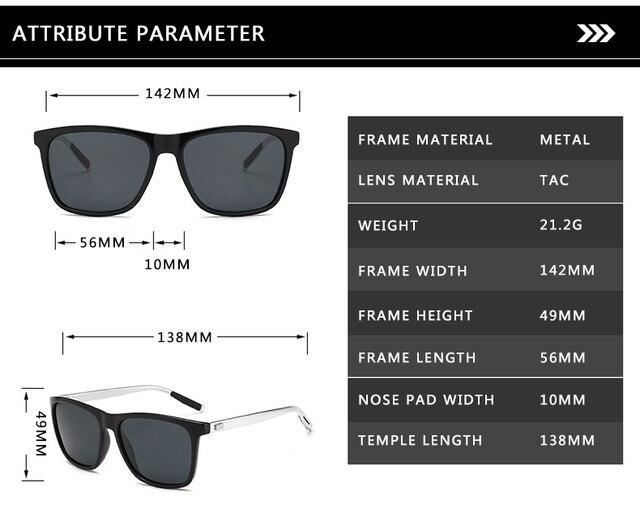 Unisex Retro Aluminum+TR90 Polarized Lens Sunglasses 5