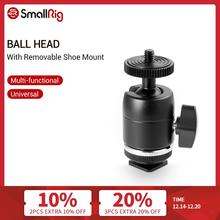 SmallRig Shoe Mount Multi Functional Ball Head with Removable Shoe Mount for Canon/Nikon/Olympus/Panasonic Cameras  1875