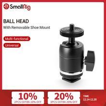Smallrig Schoen Mount Multi Functionele Bal Hoofd Met Verwijderbare Schoen Mount Voor Canon/Nikon/Olympus/Panasonic camera 1875