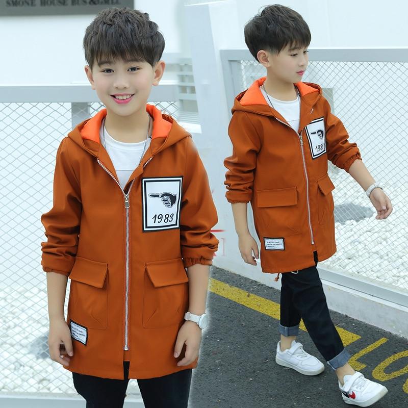 famuka Kids Boys Basic Hooded Denim Jacket Jeans Outwear