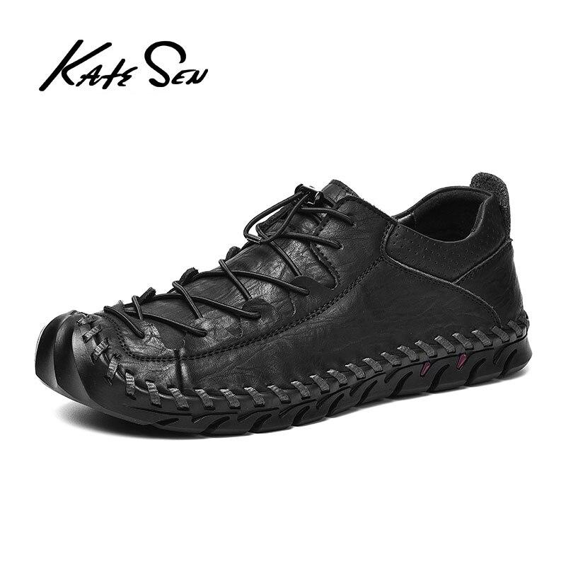 New Comfortable Men Casual Shoes Loafers Men Shoes Quality Split Leather Shoes Man Flats Hot Sale Moccasins Shoe Plus Size