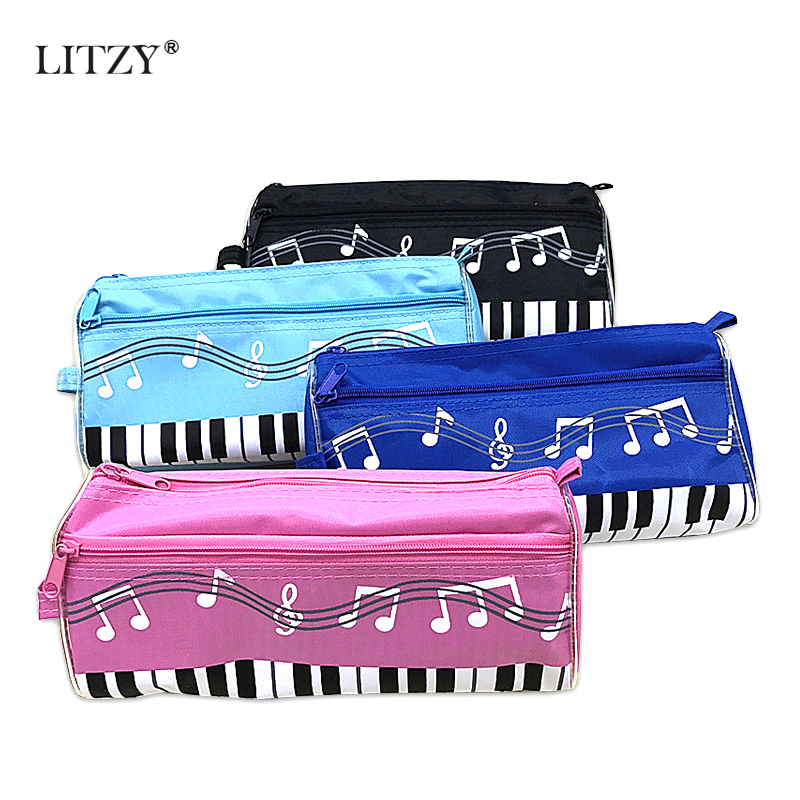 Double Zipper Large Capacity Piano <font><b>Pencil</b></font> <font><b>Case</b></font> <font><b>Kawaii</b></font> <font><b>School</b></font> Pencilcase <font><b>Big</b></font> Pen Box For Girls Boy Stationery Supplies <font><b>Pencil</b></font> Bag image