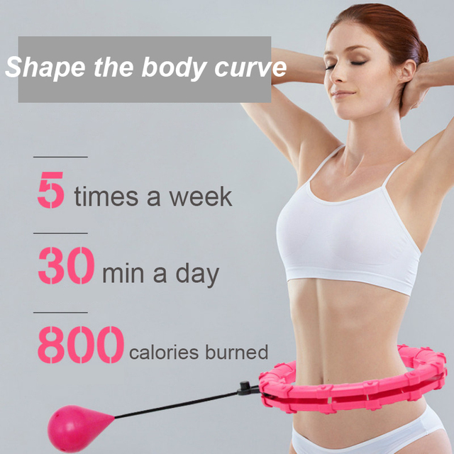 Adjustable Sport Hoops Abdominal Thin Waist Exercise Detachable Massage Hoops Fitness Equipment Gym Home Training Weight Loss 4