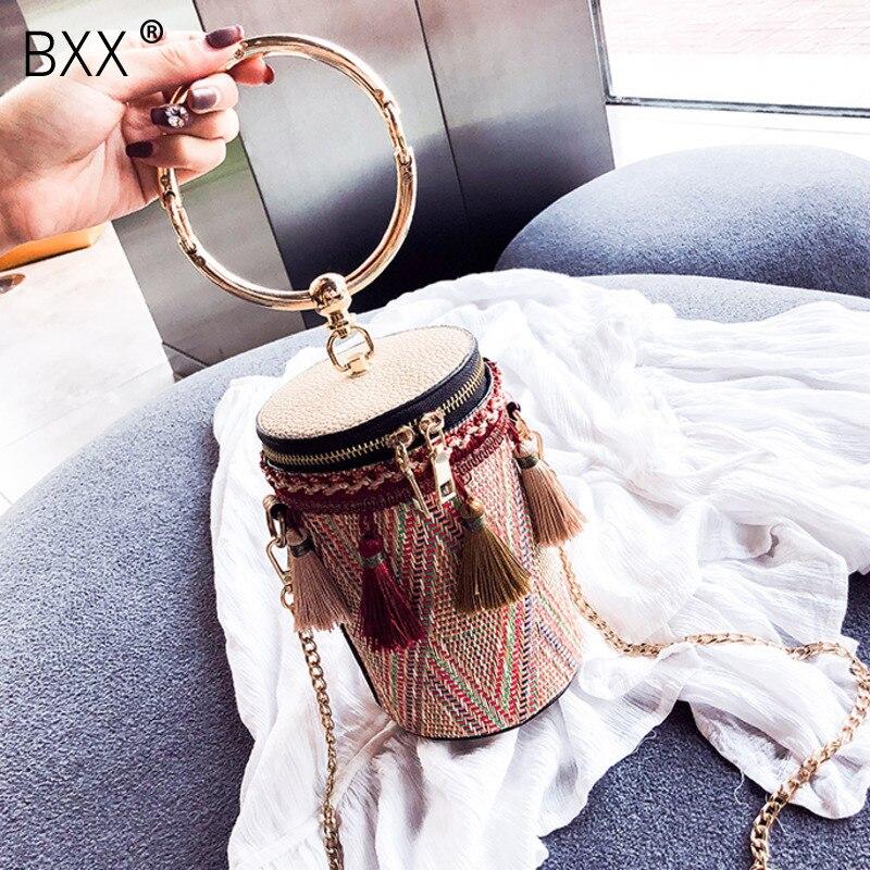 [BXX] Brand Designer Crossbody Bags For Women 2020 Spring All-match Tassel Shoulder Messenger Bag Lady Travel Handbags HK552