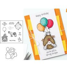 Craft Stencil Rubber-Stamps Cutting-Dies Album Scrapbooking Balloon-Letters Paper-Make