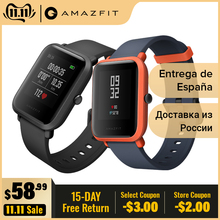 Amazfit GPS Smartwatch Heart-Rate-Monitor Always-On-Display Battery-Life IP68 Android