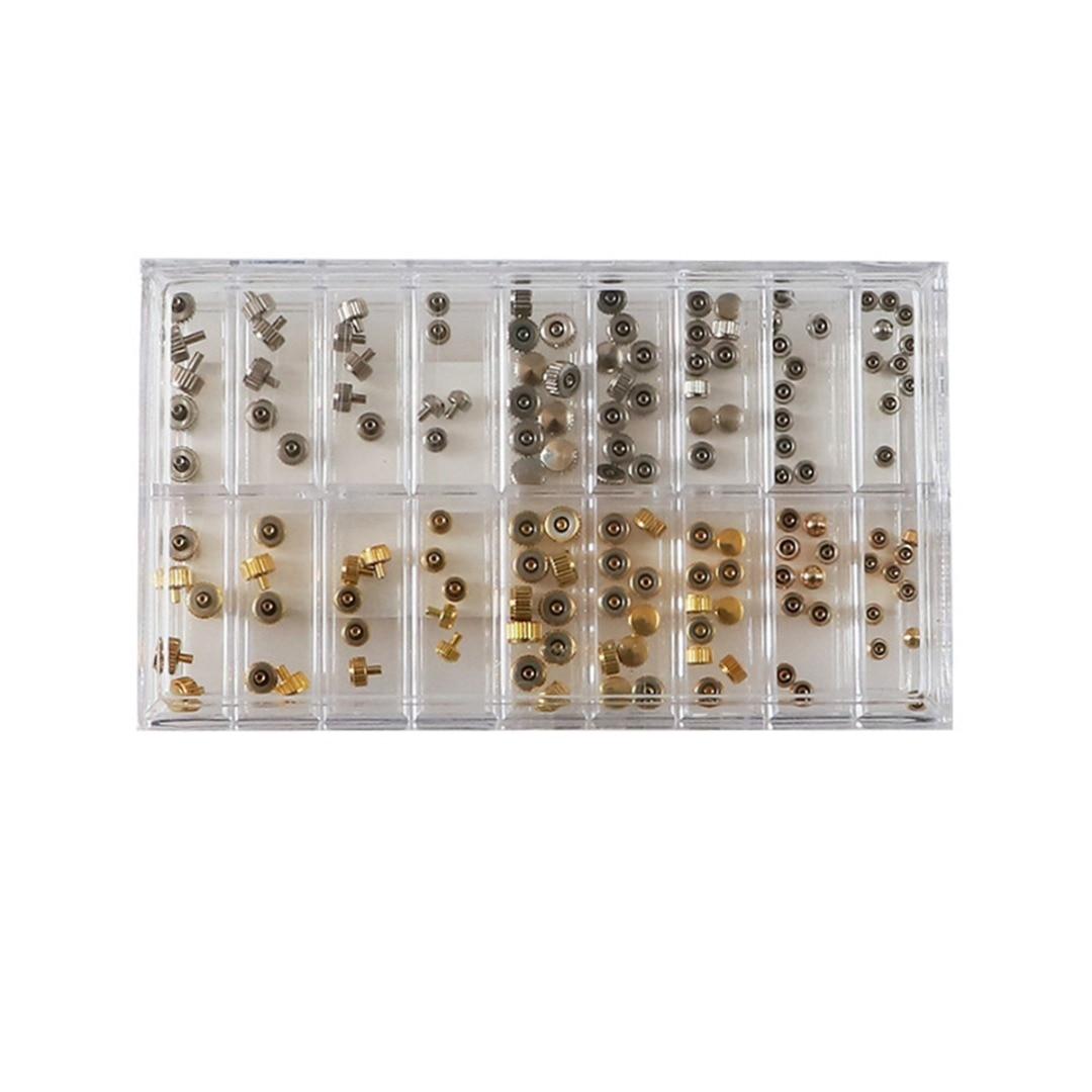 Sortidas 140 pçs cobre relógio coroa mix
