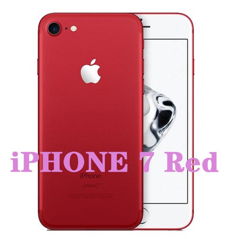 Разблокированный Apple iPhone 7/iPhone 7 Plus четырехъядерный мобильный телефон 12,0 МП камера 32G/128G/256G Rom IOS Телефон с отпечатком пальца - Цвет: iphone 7 Red
