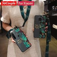 SoCouple Redmi Note 9 Pro caso para Redmi Nota 10 7 8 pro Xiaomi Mi 9t A3 Lite poco x3Neck muñeca Correa funda de soporte de teléfono