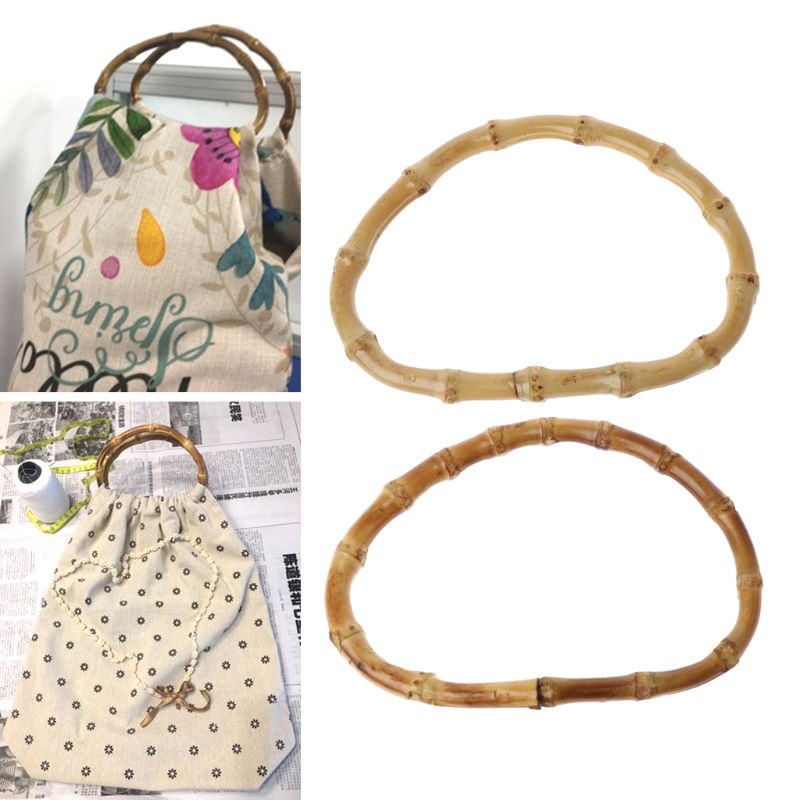 1 x D Shape Bamboo Bag Handle for Handcrafted Handbag DIY Bags Accessories Good Quality 13cm
