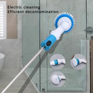 Electric Rotatable Scrubber Turbo Scrub Cleaning Brush Wireless Bathroom Tile Cleaner Window Brush Cleaner Kitchen Utensils