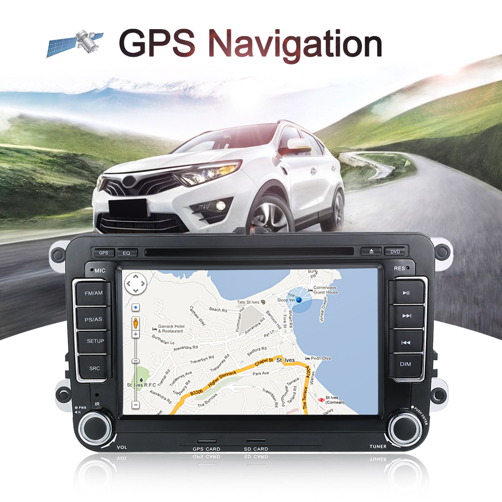 Hot 2 Din 7 HD Car DVD Carro Multimidia Player GPS Navi BT FM Universal Autoradio Cassette Recorder Automagnitola for VolksWage image