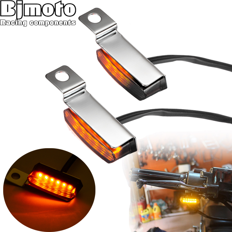 Motorcycle Mini LED Turn Signal Light Emark Flowing Water Indicator Flasher Light Taillight Lamp Cafe Race For Honda BMW Scooter