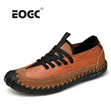 New Arrival Men Shoes Plus Size High Quality Casual Shoes Split Leather Lace Up Loafers Moccasins Breathable Shoes Men цена и фото