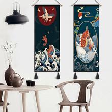 Strona główna dekoracyjne gobeliny obicia ścienne etniczne freski tło ozdoby ścienne sypialnia tkaniny wystrój malowanie ścian tanie tanio Tradycyjny chiński Scenic Dzianiny Prostokąt Mieszanie Gładkie barwione